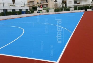 Application de terrain de sport acrylique