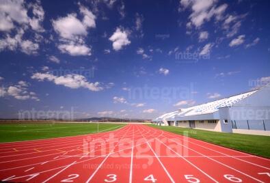 Terrain de sport d'athlétisme