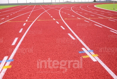 Application de terrain de sport d'athlétisme