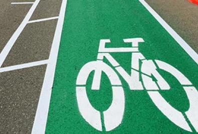 Application de plancher de chemin de vélo