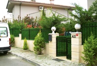 Application de mur de jardin de barrière de gazon