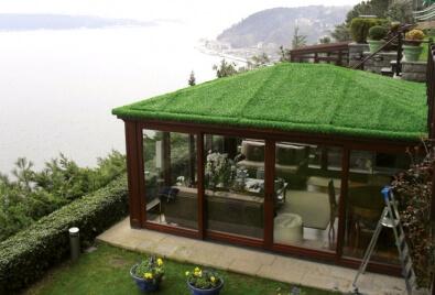 Application de revêtement de toit de barrière de gazon