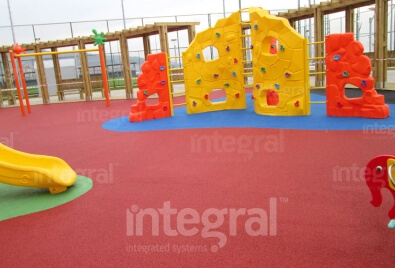 Application de plancher  caoutchouc de terrain de jeu pour enfants