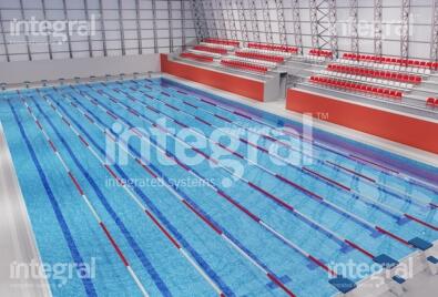 Application de piscine de natation olympique fermée