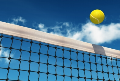 Des filets de tennis