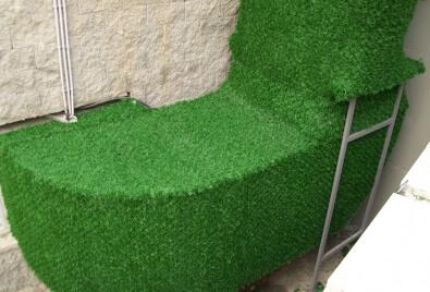 Application de revêtement de Wallgrass (gazon de mur)