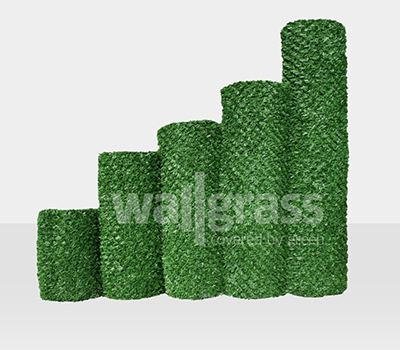 Barrière de gazon vert